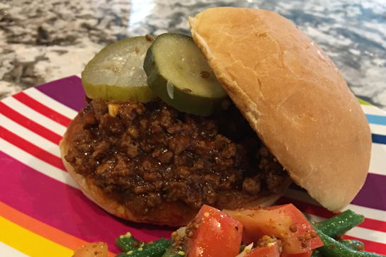 Make easy, delicious sloppy joes with limited ingredients on hand.